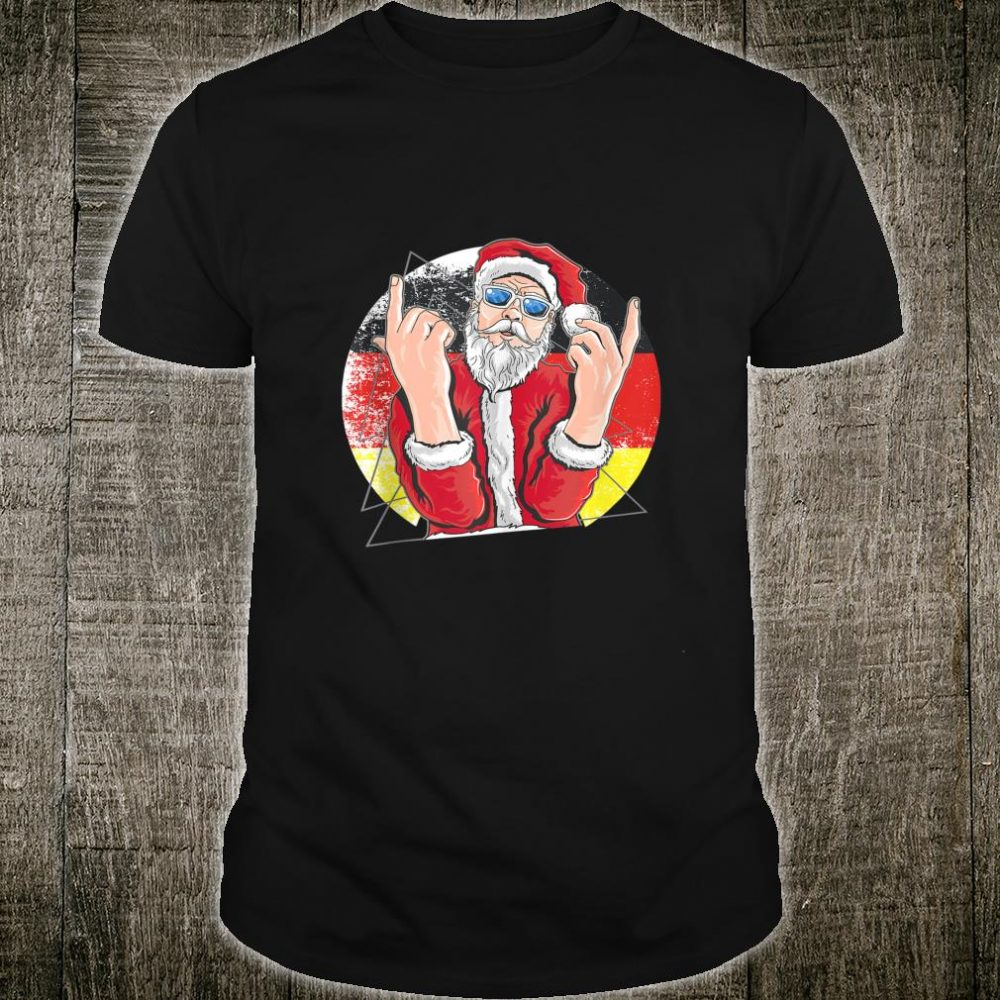 Hip Santa Claus German Christmas Shirt