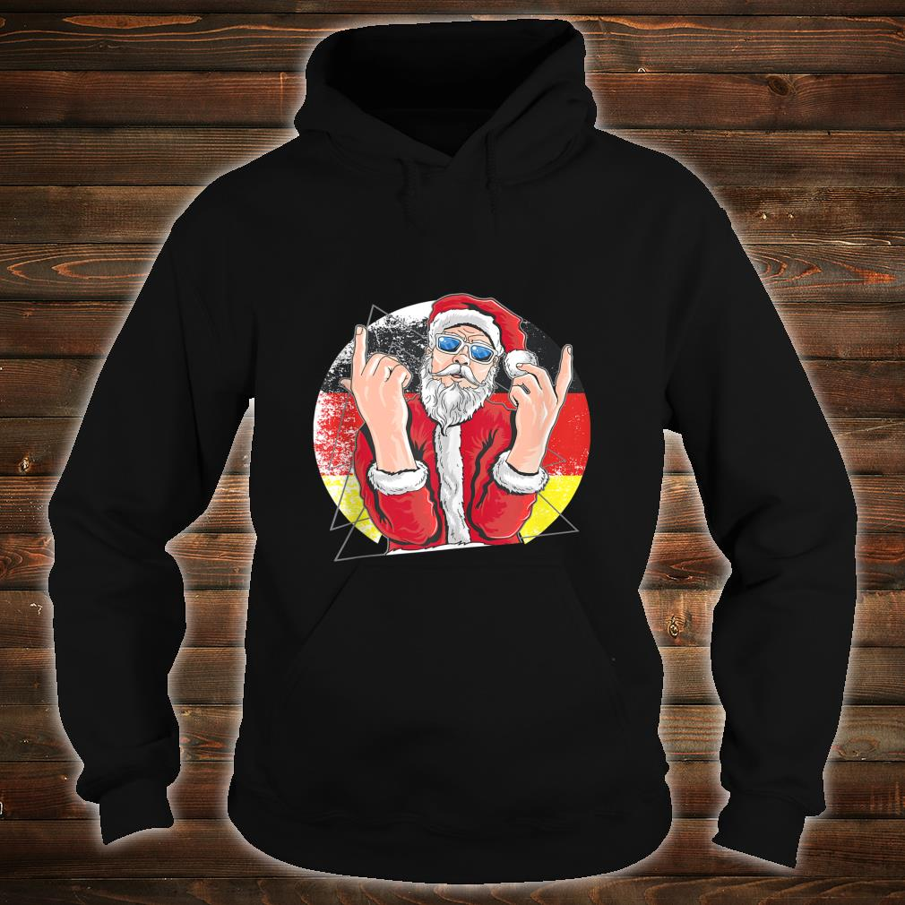 Hip Santa Claus German Christmas Shirt hoodie