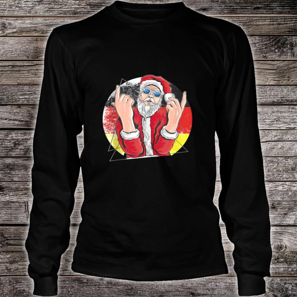 Hip Santa Claus German Christmas Shirt long sleeved