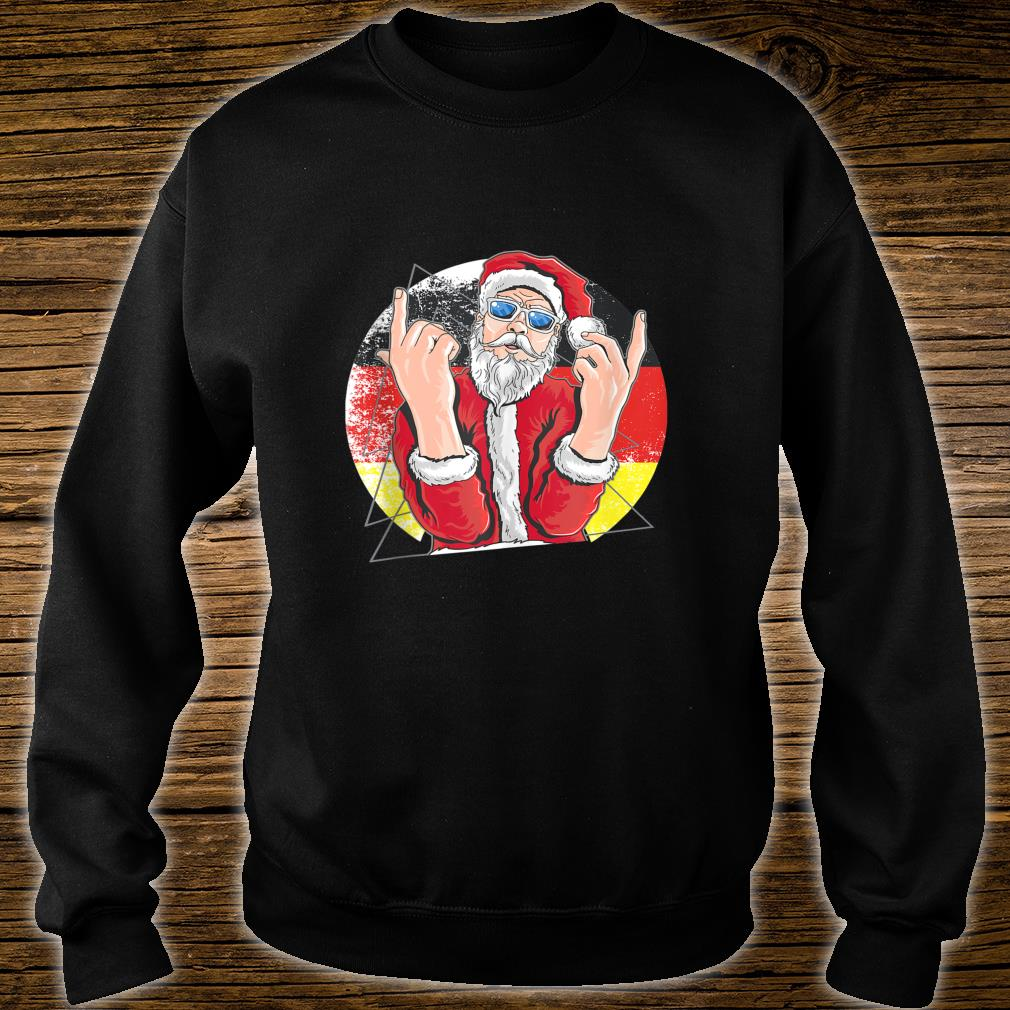 Hip Santa Claus German Christmas Shirt sweater