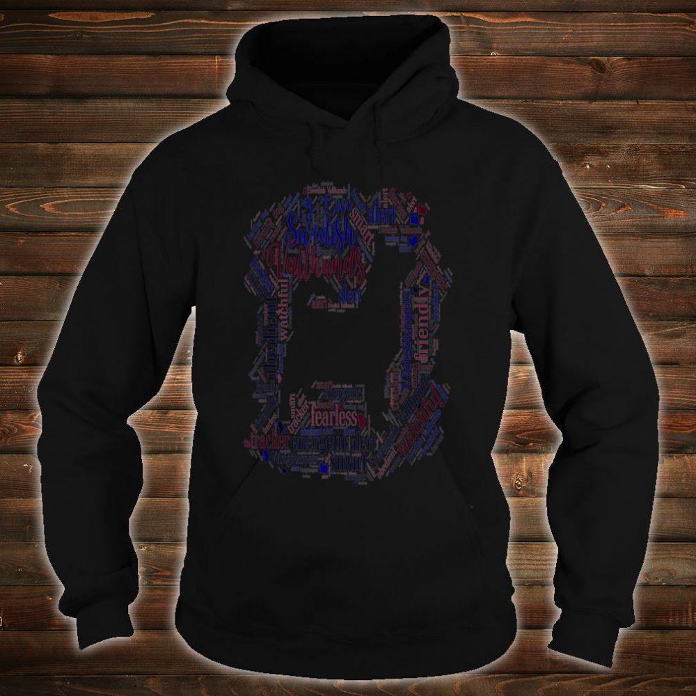 I Love Swedish Vallhunds Cute Word Cloud Dog A Shirt hoodie