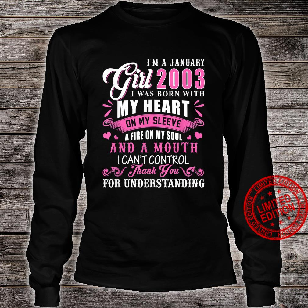 I'm A January Girls 2003 18th Birthday 18 Years Old Shirt long sleeved