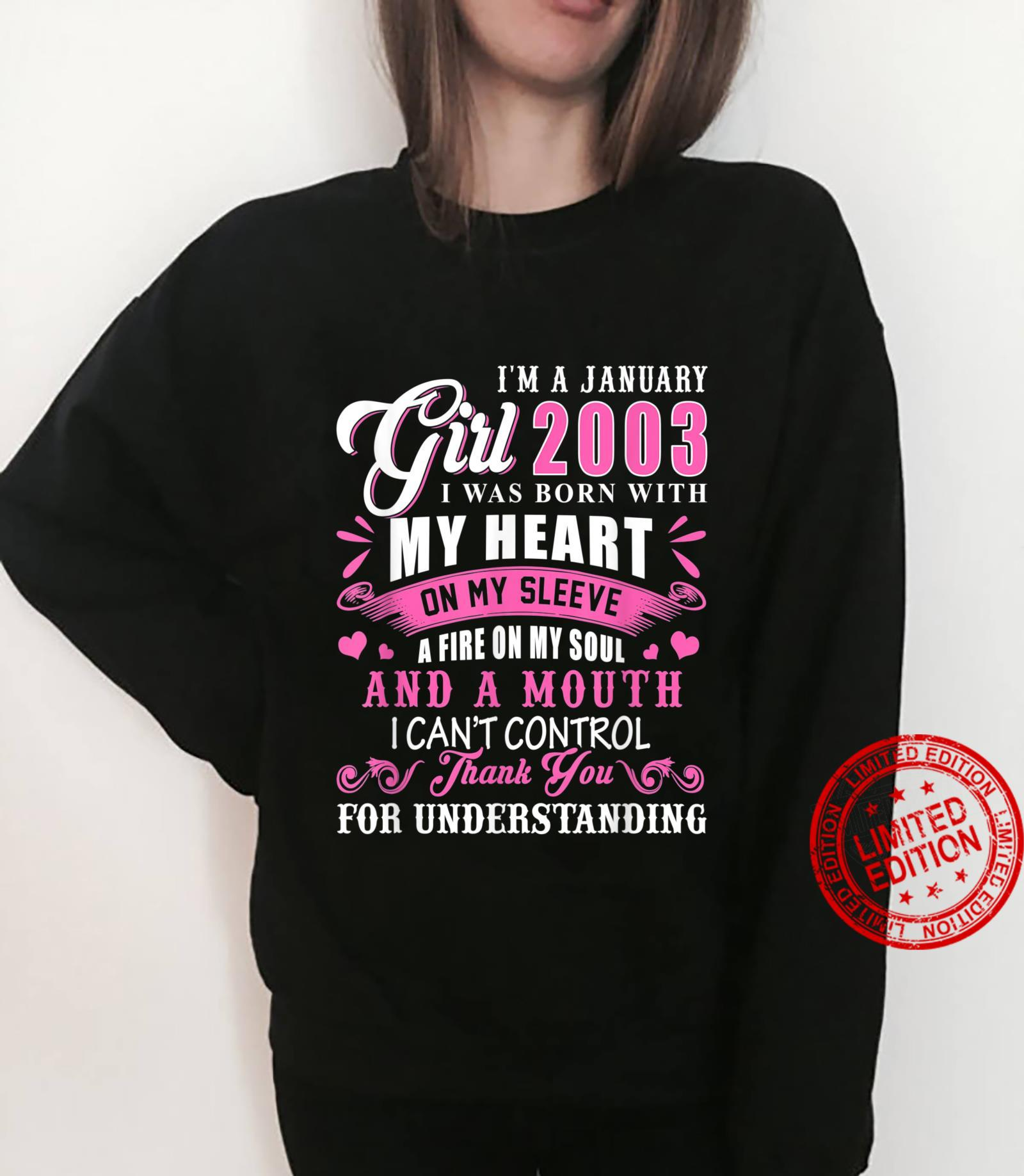 I'm A January Girls 2003 18th Birthday 18 Years Old Shirt sweater