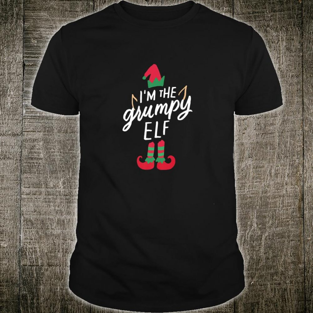 I'm The Grumpy Elf Matching Family Group Christmas Xmas Shirt