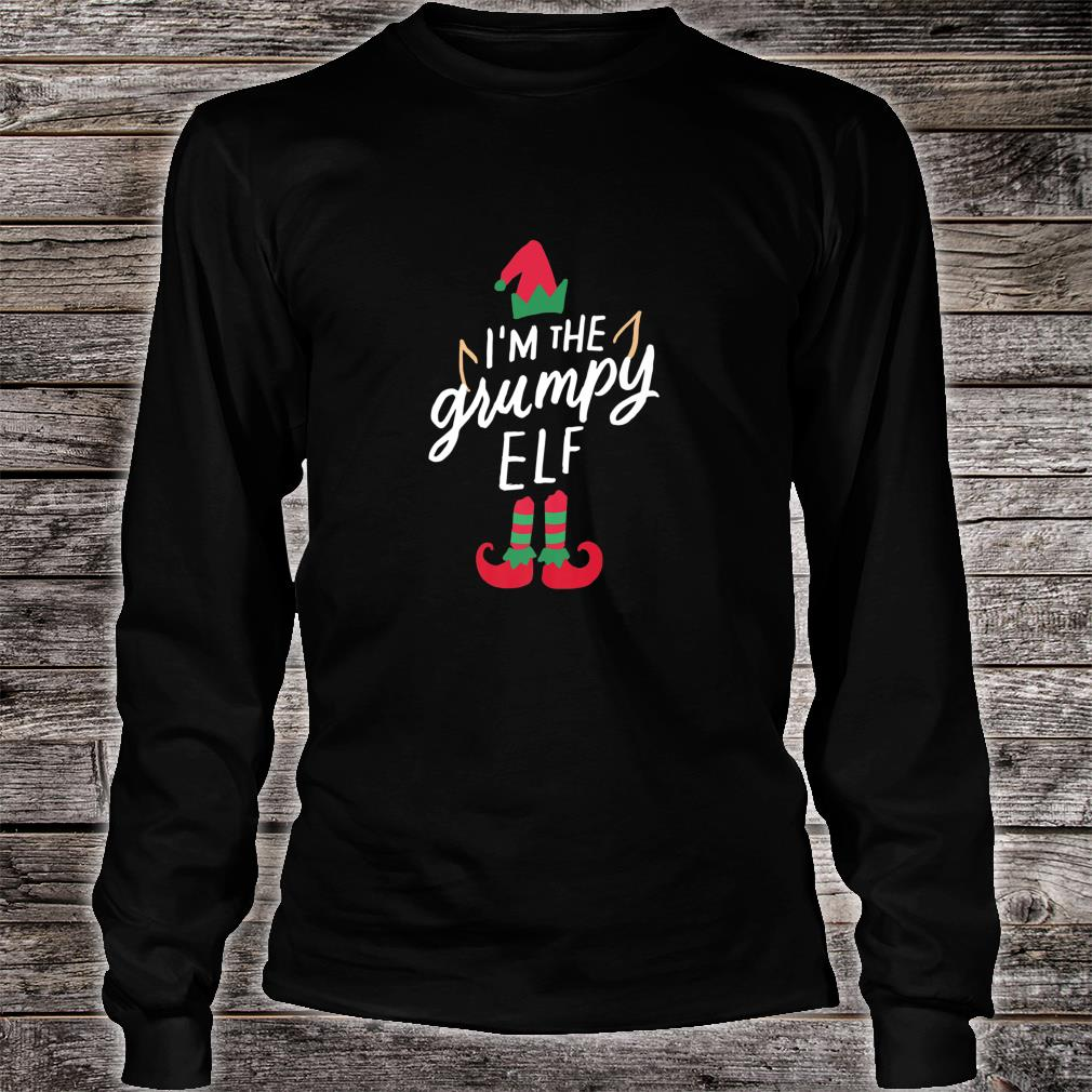 I'm The Grumpy Elf Matching Family Group Christmas Xmas Shirt long sleeved
