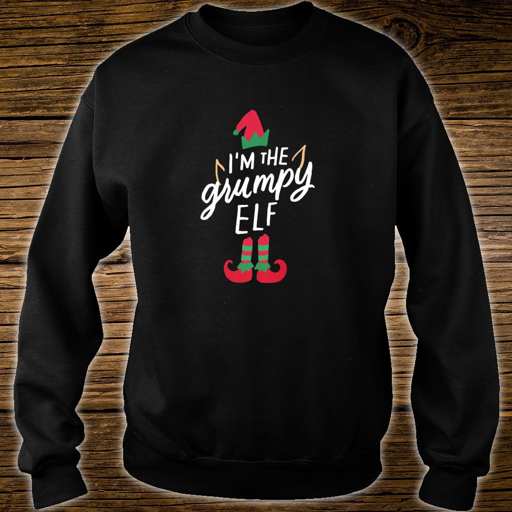 I'm The Grumpy Elf Matching Family Group Christmas Xmas Shirt sweater