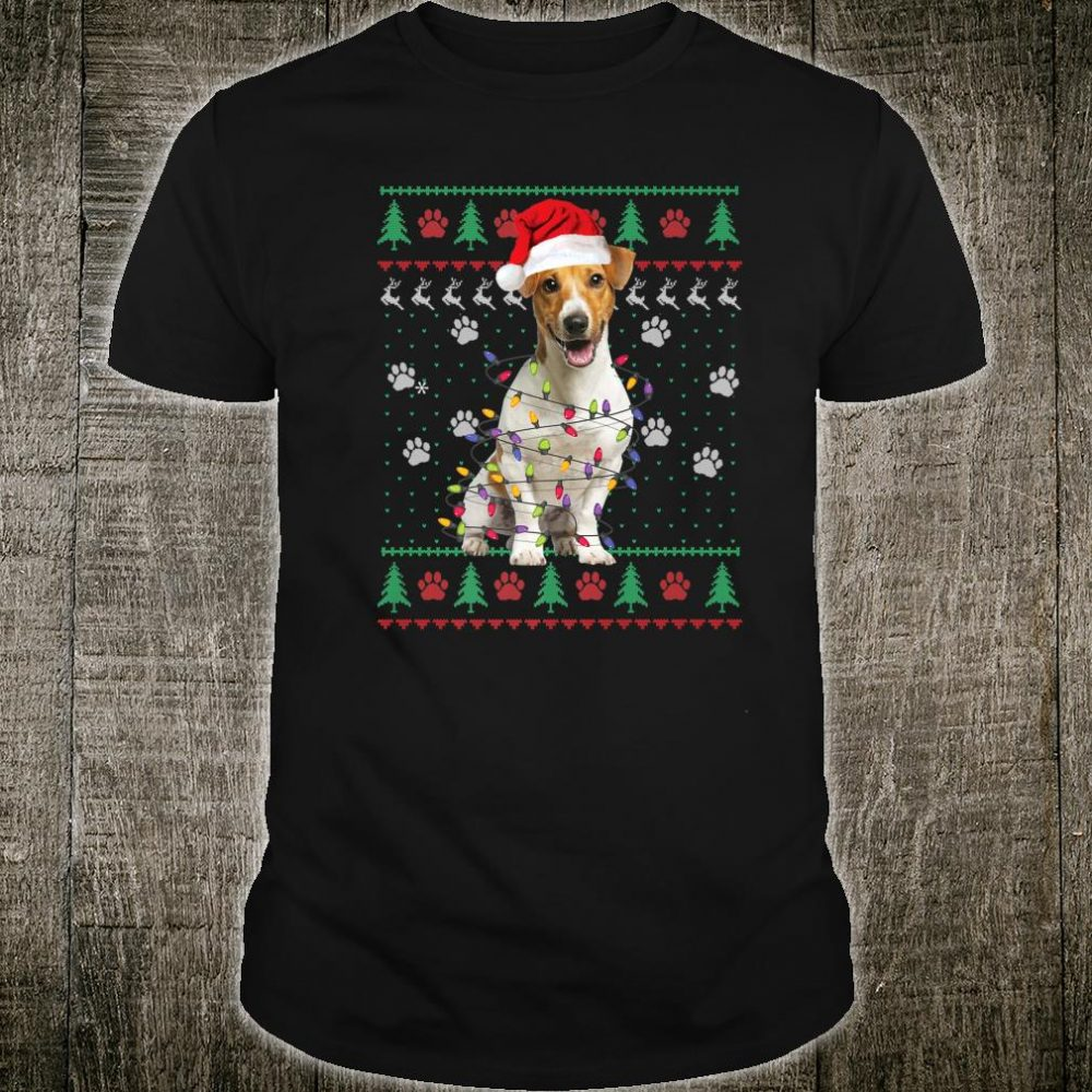 Jack Russell Terrier Christmas Ugly Dog Xmas Shirt