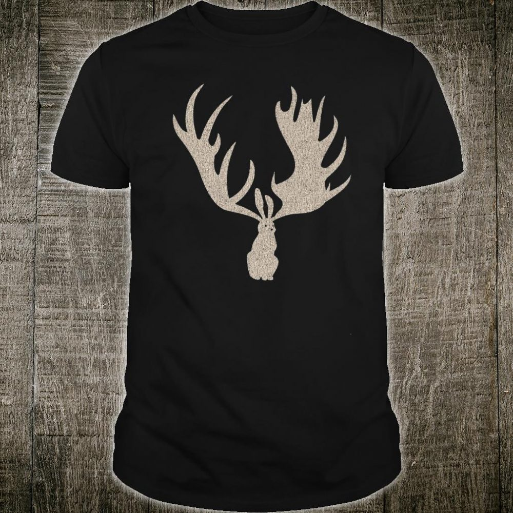 Jackalope Rabbit with Moose Antlers Shirt