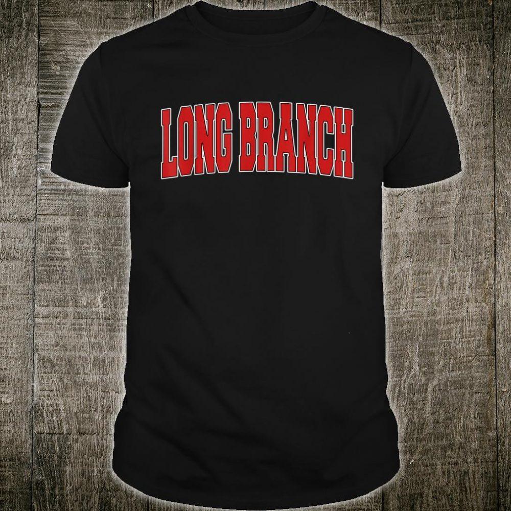 LONG BRANCH NJ NEW JERSEY Varsity Style USA Vintage Sports Shirt