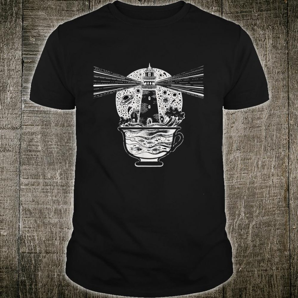 Lighthouse Coffee Cup Caffeine Nautical Hipster Shirt