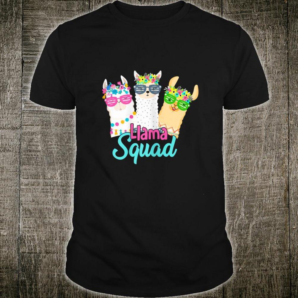 Llama Squad shirt for Girls Cute Llama Shirt