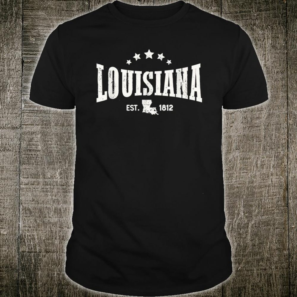 Louisiana Vintage Distressed Rodeo Style Home State Shirt