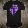 Lupus Awareness Support Strong Diva Survivor Cross of Christ Shirt