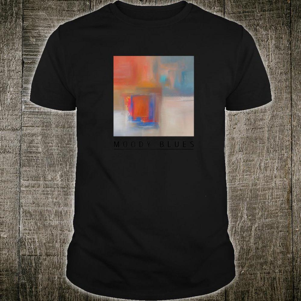 MOODY BLUES B Abstract Art Shirt