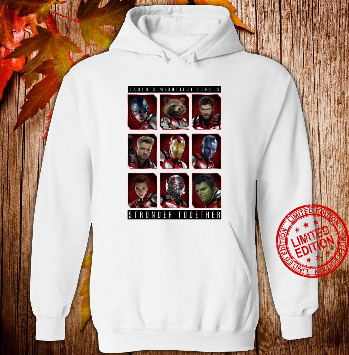 Marvel Avengers Earth's Mightiest Heroes Stronger Together Shirt hoodie