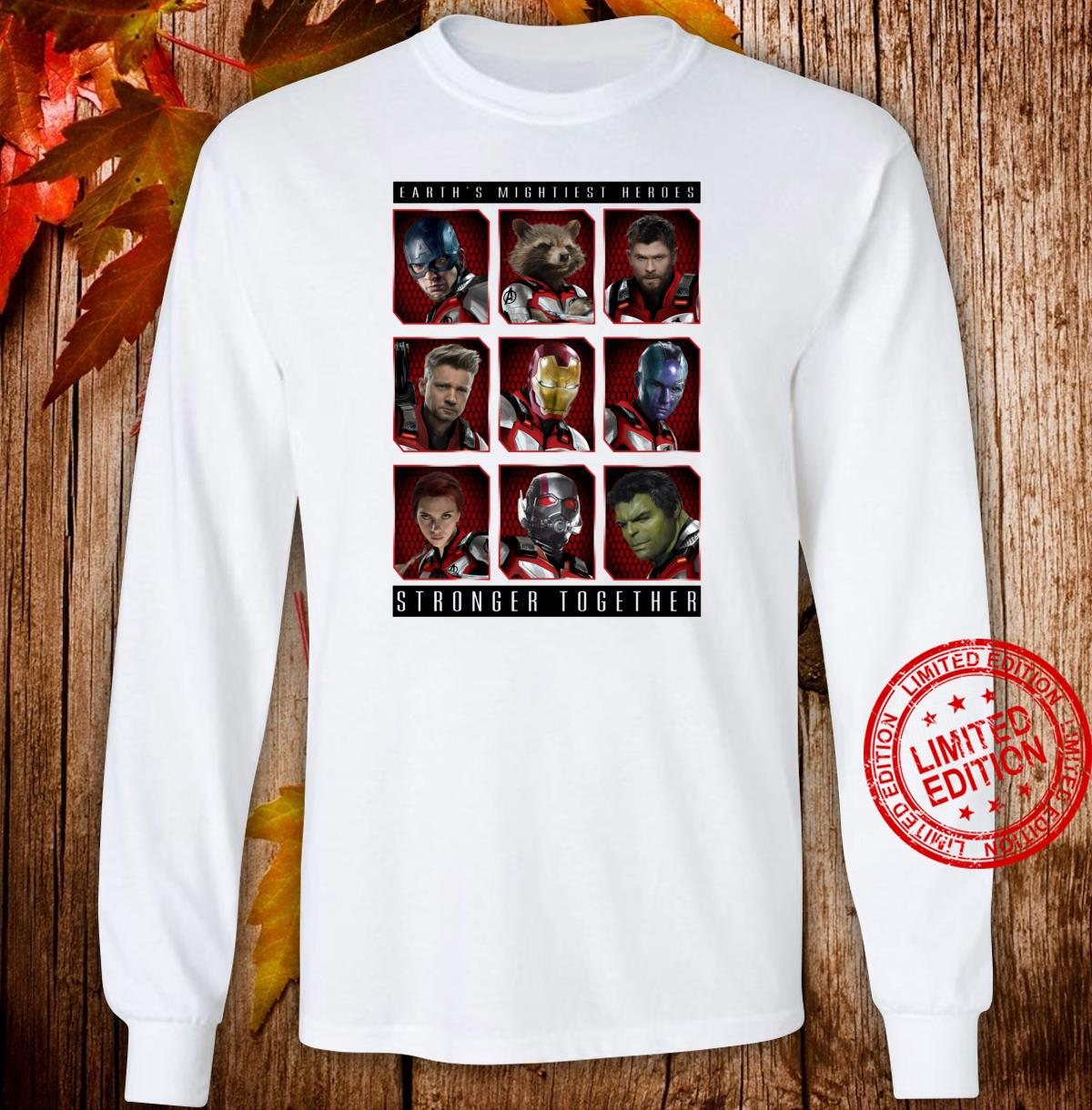 Marvel Avengers Earth's Mightiest Heroes Stronger Together Shirt long sleeved