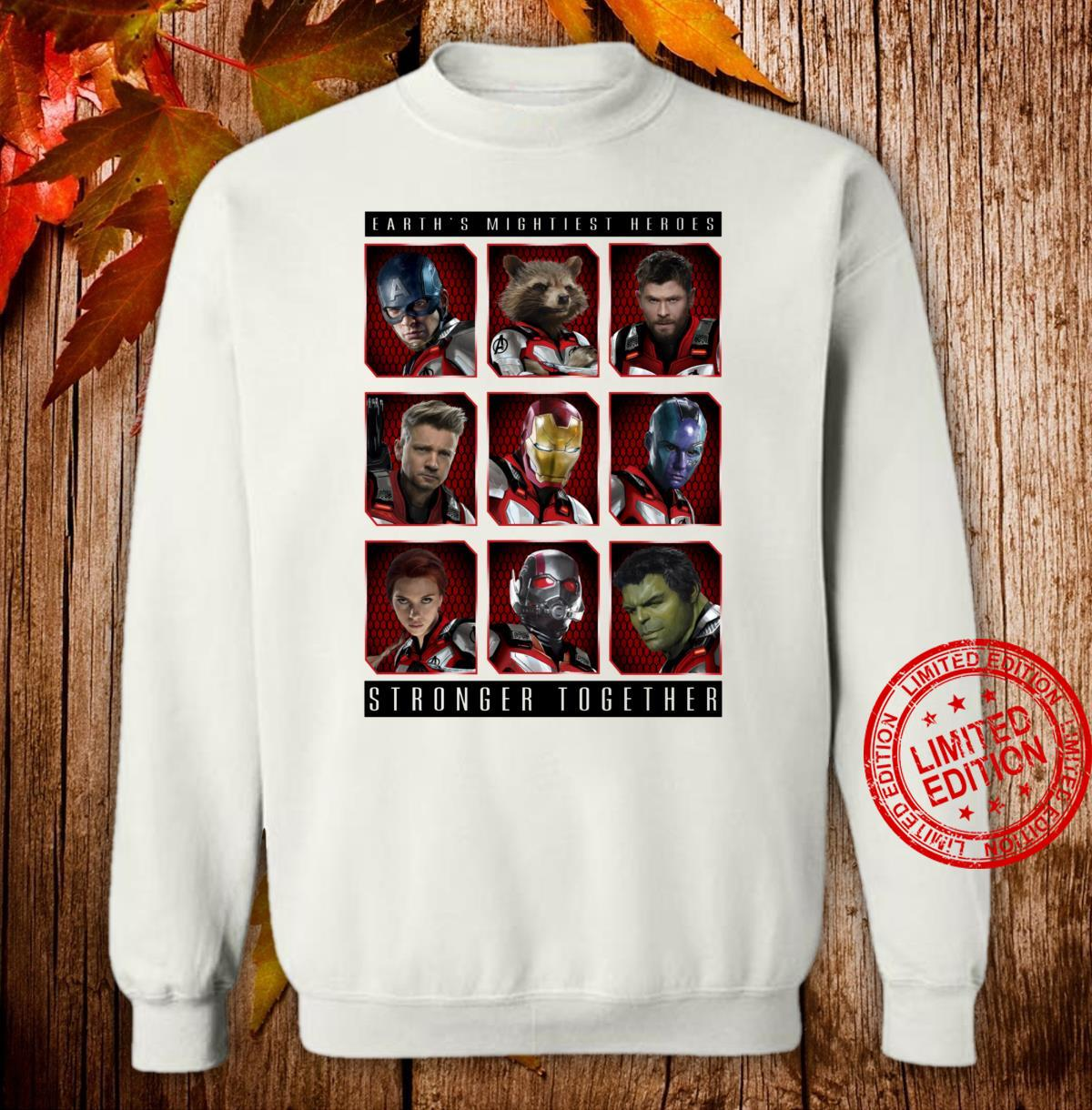 Marvel Avengers Earth's Mightiest Heroes Stronger Together Shirt sweater