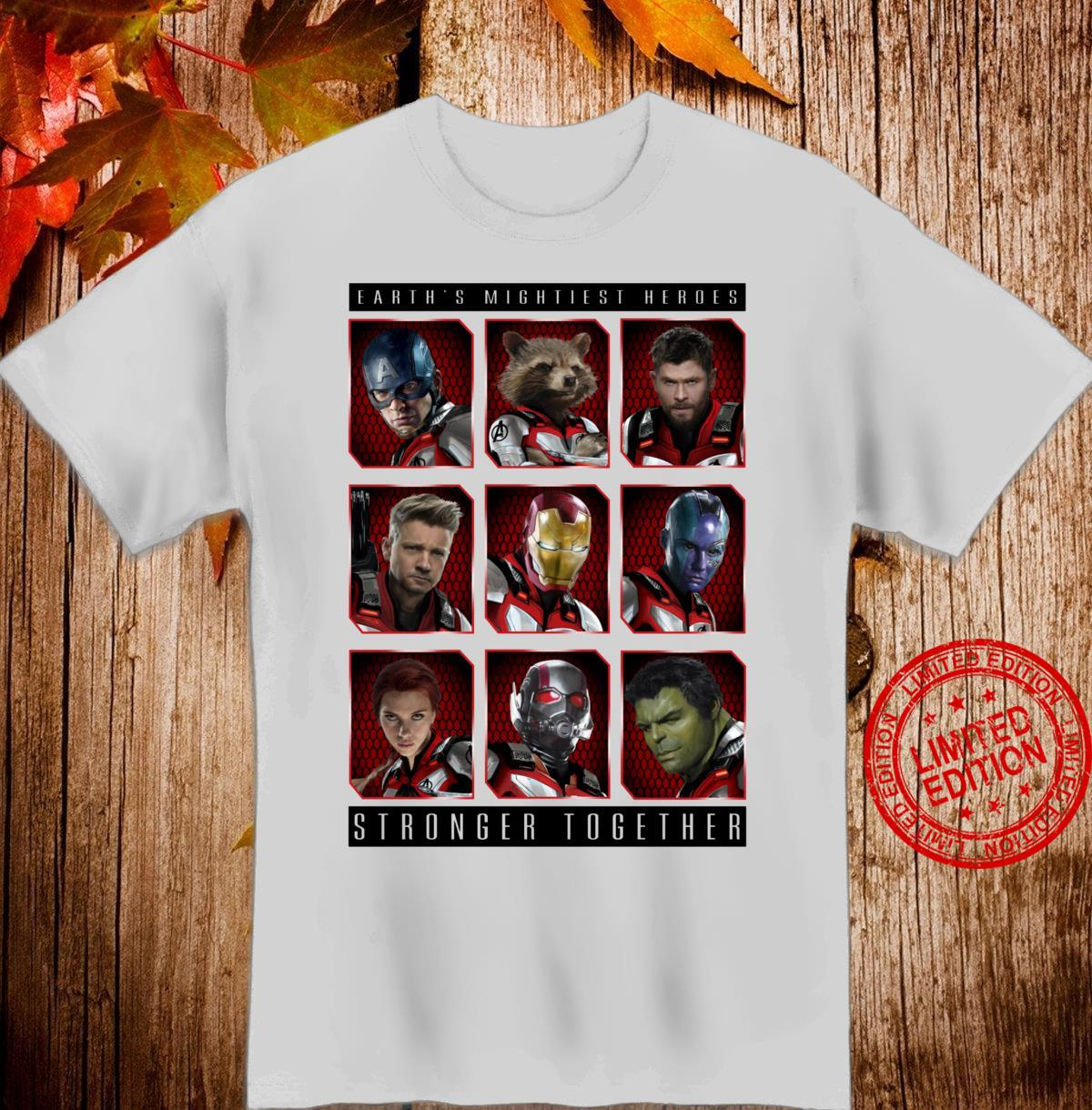 Marvel Avengers Earth's Mightiest Heroes Stronger Together Shirt