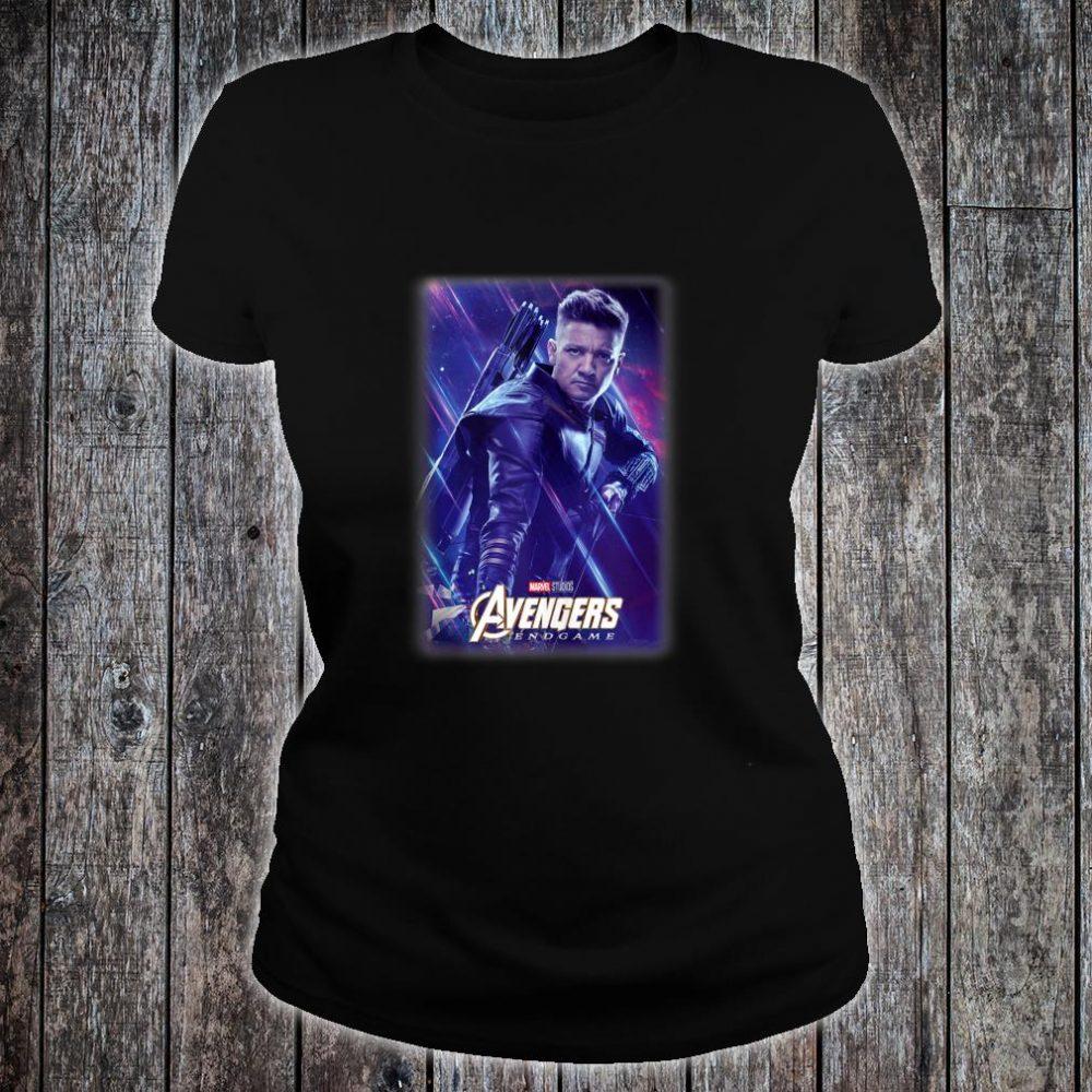Marvel Avengers Endgame Hawkeye Galactic Poster Shirt ladies tee