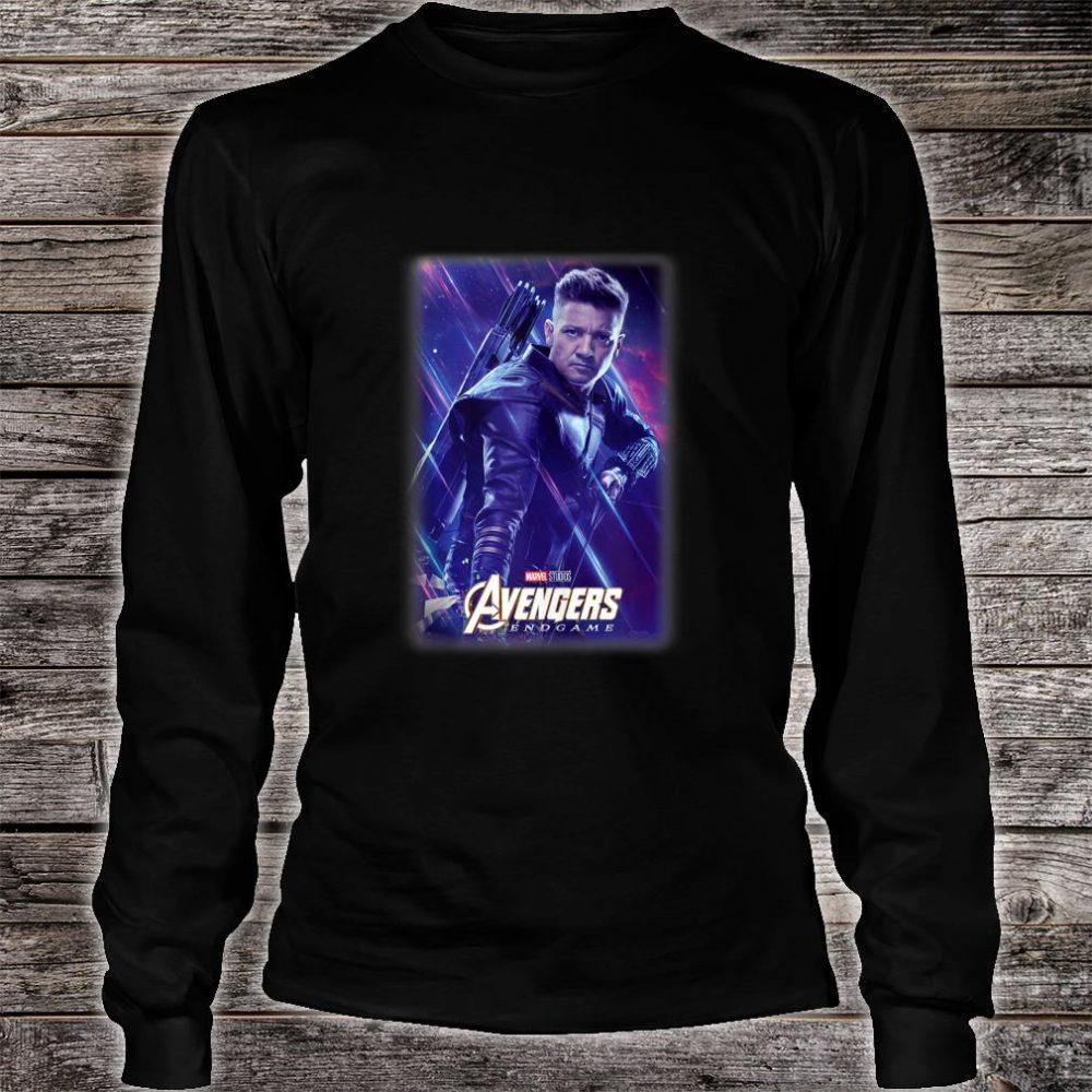 Marvel Avengers Endgame Hawkeye Galactic Poster Shirt long sleeved