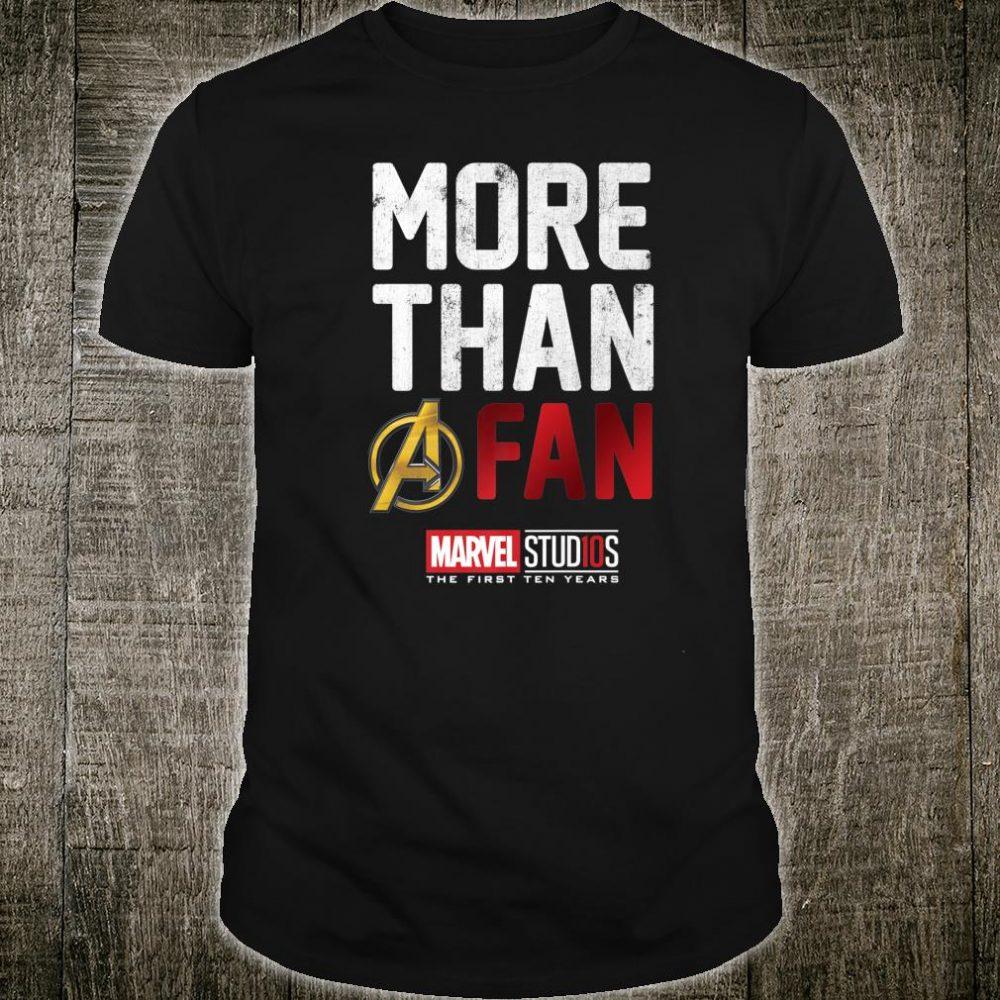 Marvel Studios Ten Years More Than A Fan Shirt