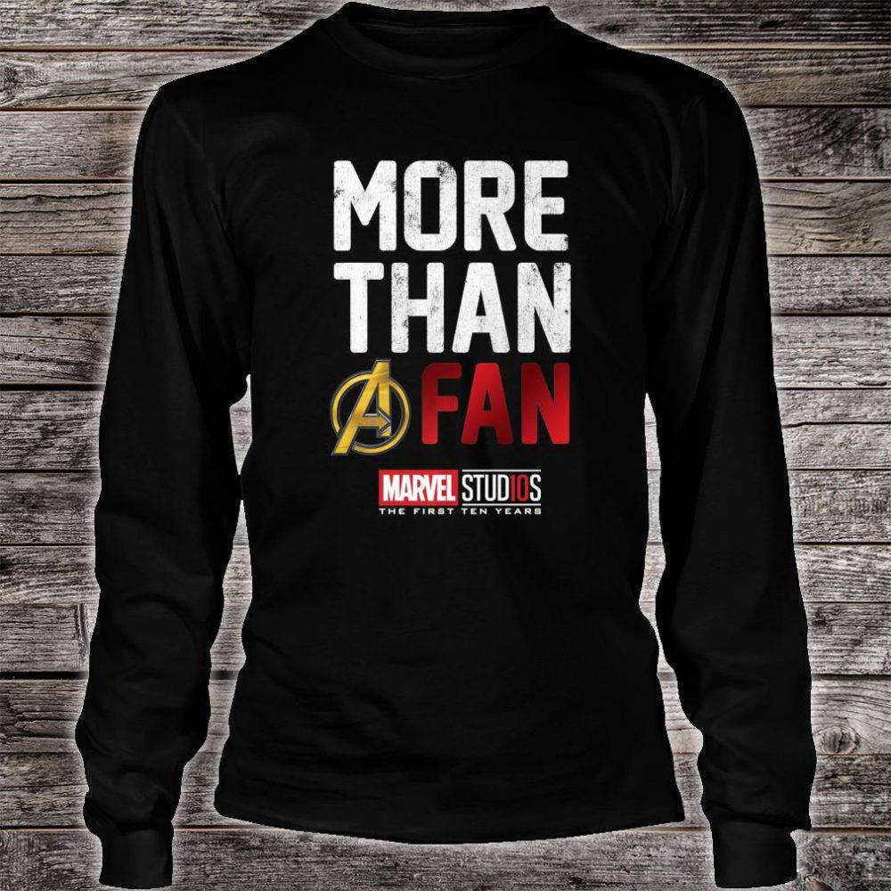 Marvel Studios Ten Years More Than A Fan Shirt long sleeved