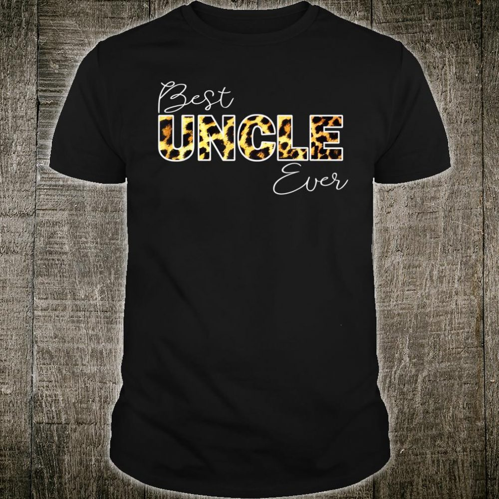 Mens Best Uncle Ever Leopard, Family Aniversary Matching Brother Shirt