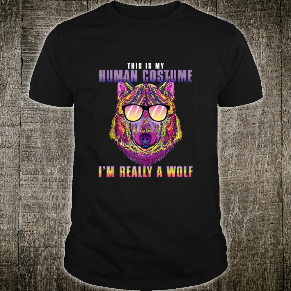 Mens Retro Wolfs Vintage Splash Art Idea Shirt
