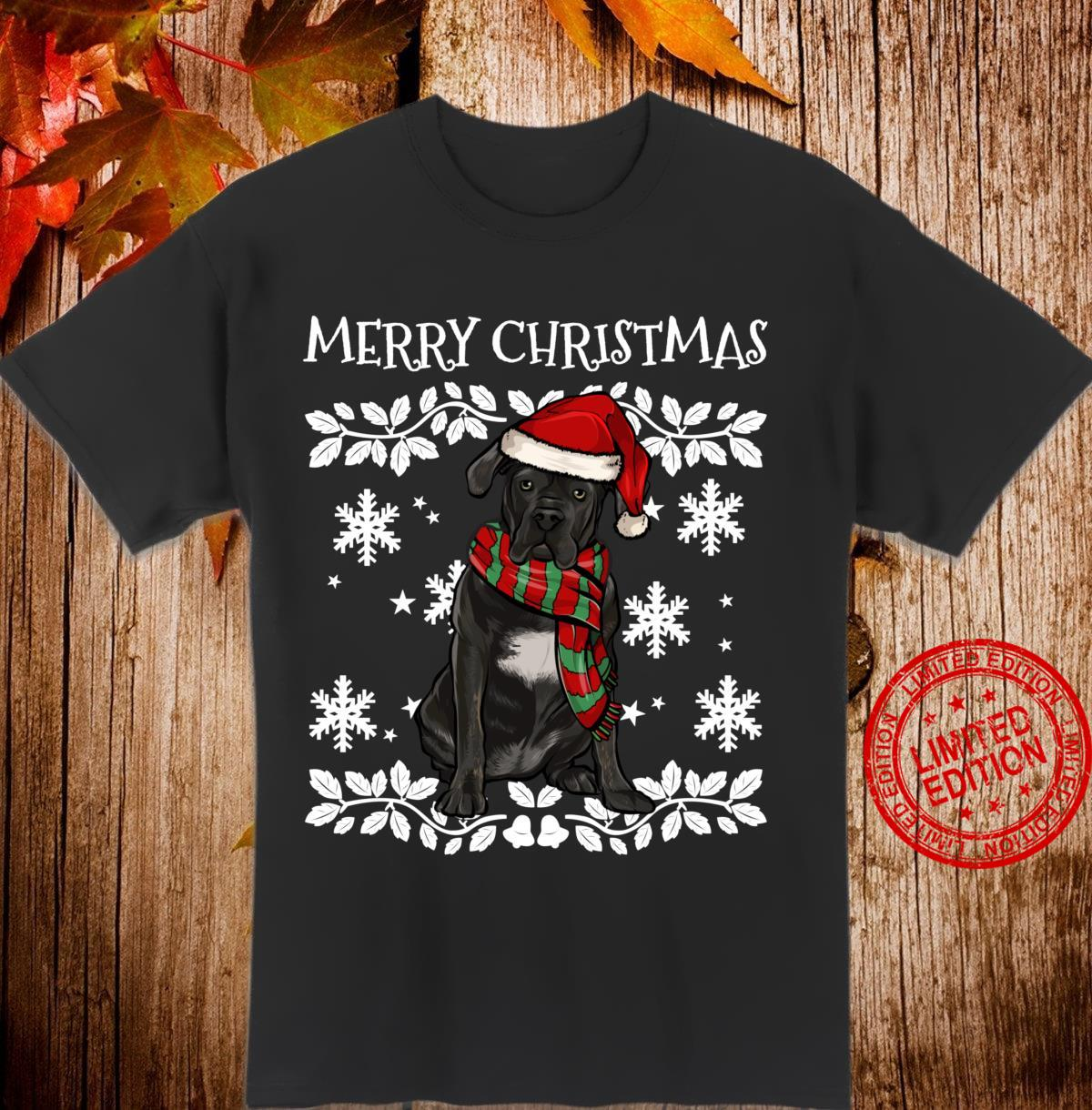 Merry Christmas Ornament Cane Corso Xmas Santa Shirt