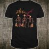 Mexican Mariachi Guitar Skeleton Day of The Dead Halloween Shirt