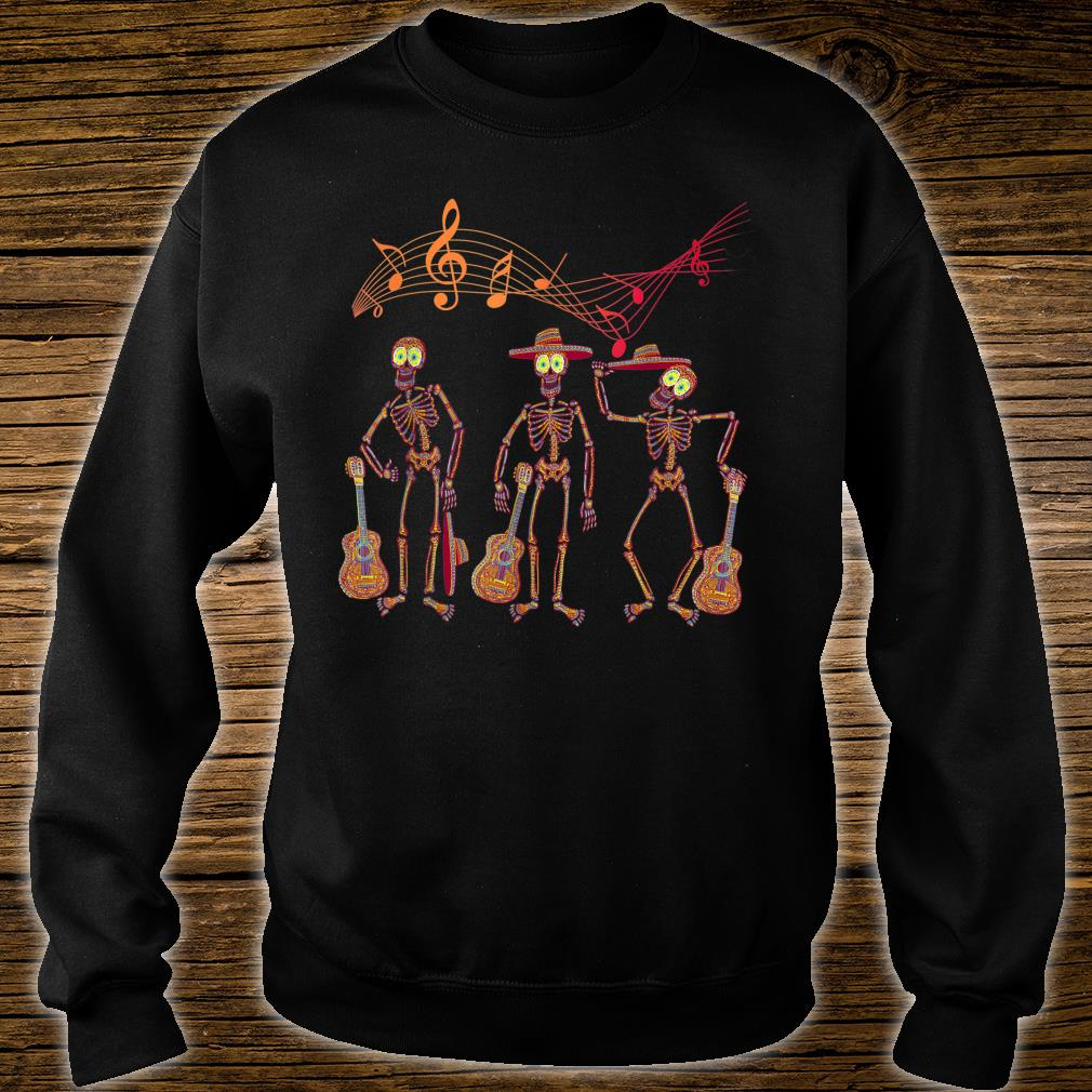 Mexican Mariachi Guitar Skeleton Day of The Dead Halloween Shirt sweater