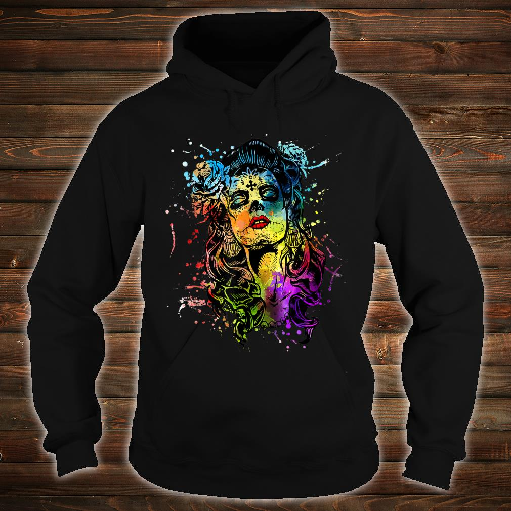 Mexico Tattoo Corloful Skull Day of The Dead Shirt hoodie