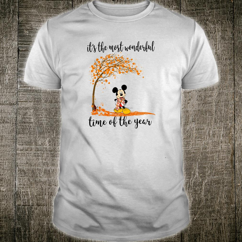 Mickey it's the most wonderful time of the year shirt