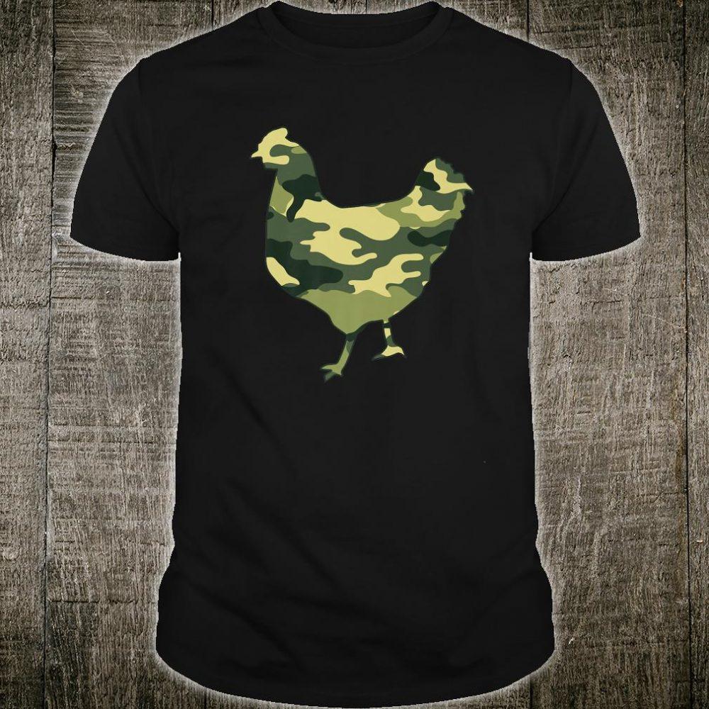Military Chicken Camo Print US Hen Fowl Veteran Shirt