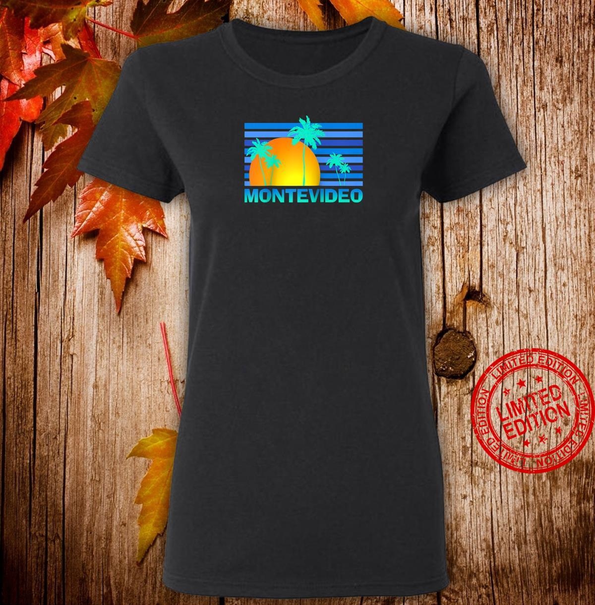Montevideo Uruguay Sunset Palm Trees Shirt ladies tee