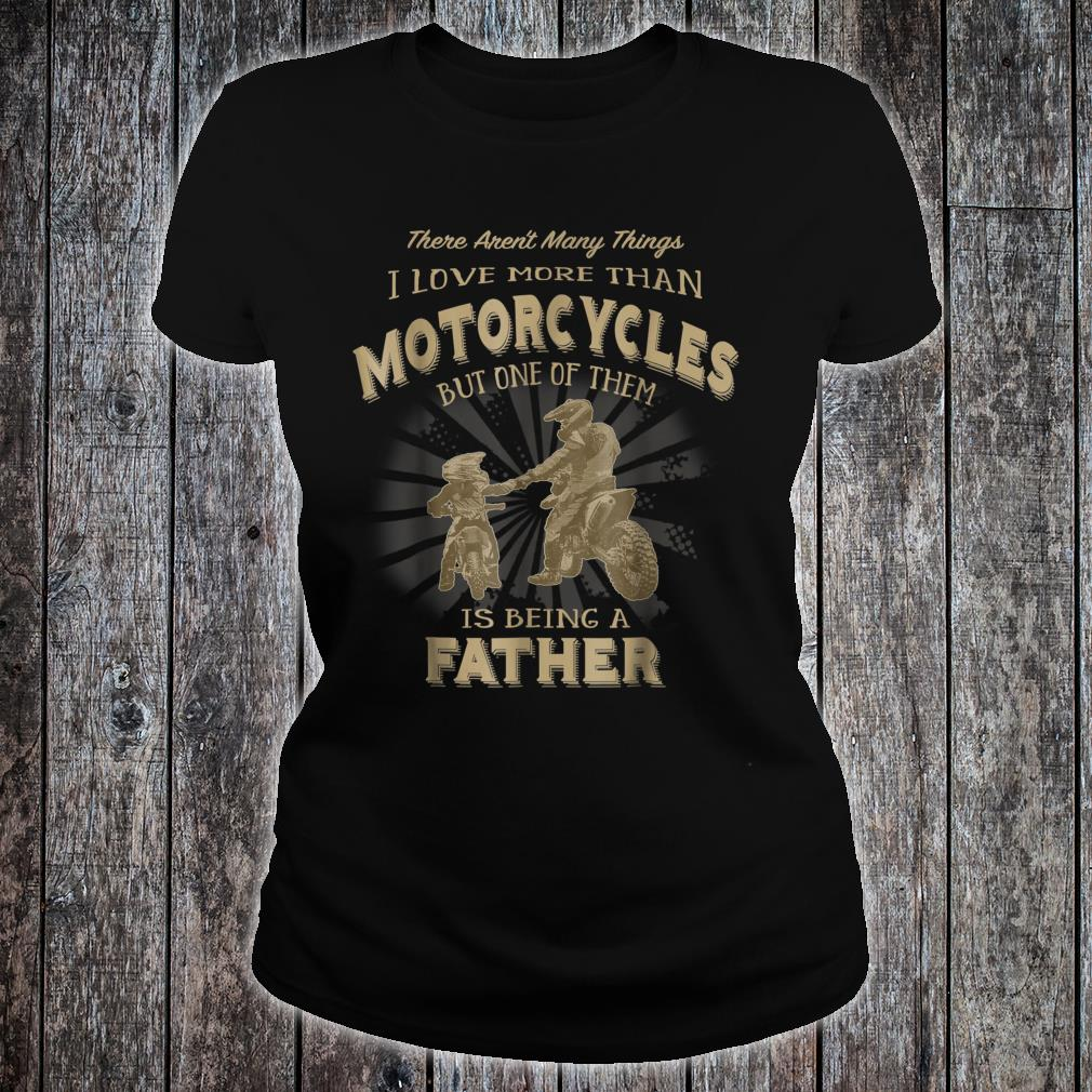 Motocross Father Like Son Being a Dirt Bike Dad Shirt ladies tee