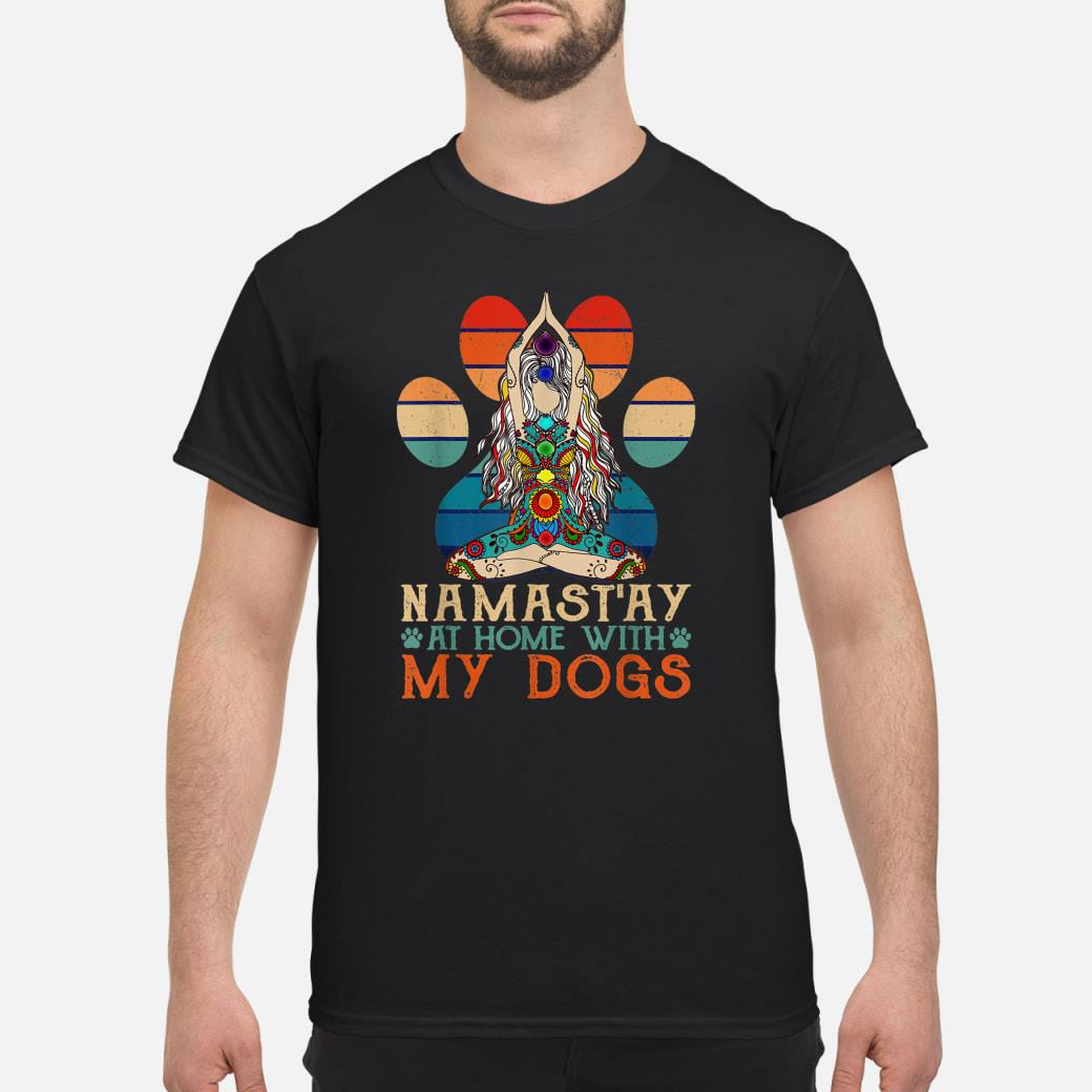 Namast'ay Home With My Dogs Yoga Shirt Paw