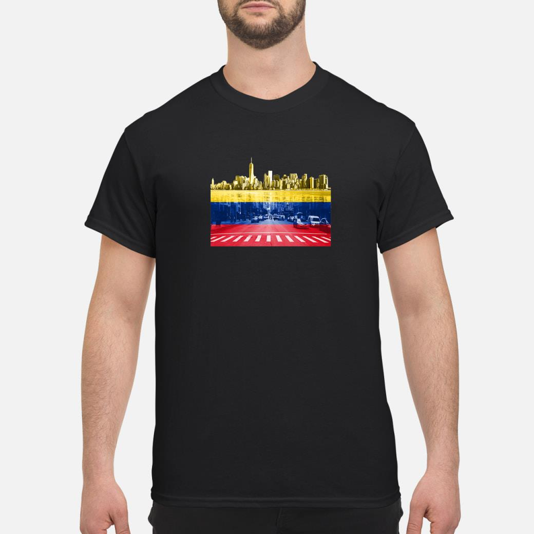 New York City hattan Colombian Flag Colombia NYC Skyline Shirt