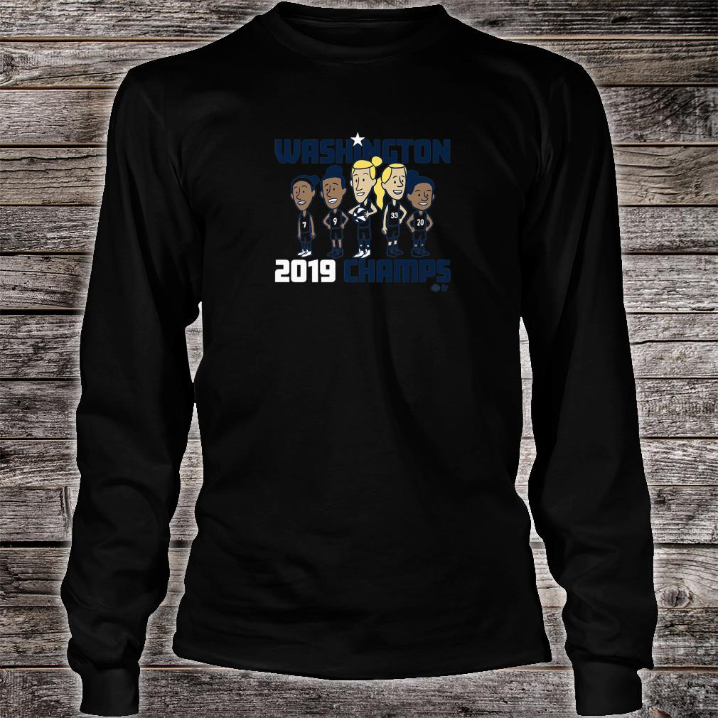 Officially Licensed Mystics Washington 2019 Champs Shirt Long sleeved