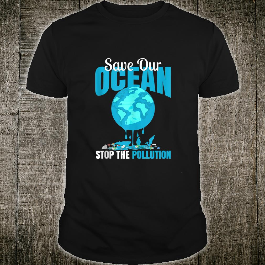 Save Our Ocean Stop The Pollution Dolphin print Shirt
