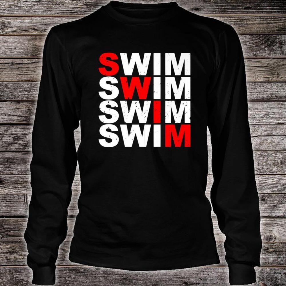 Swim Swim Swim Swim distressed logo Shirt long sleeved