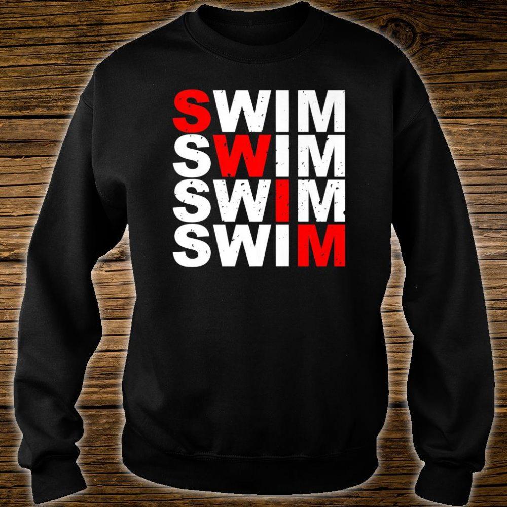 Swim Swim Swim Swim distressed logo Shirt sweater