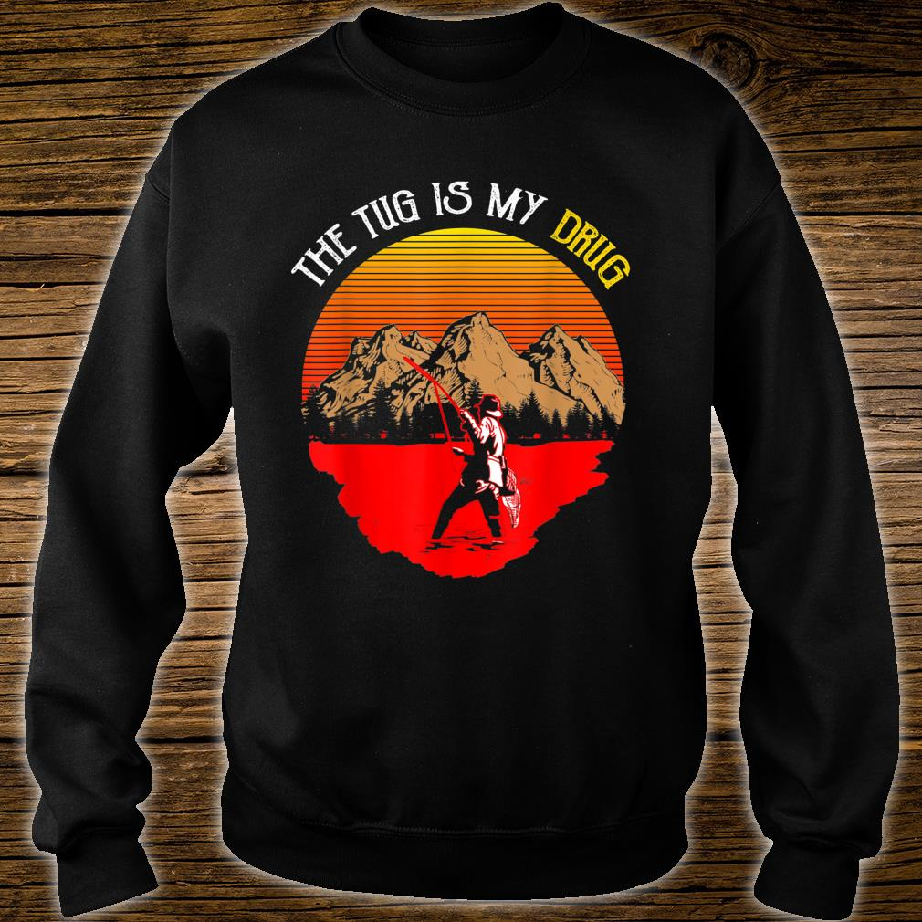 Vintage The Tug Is My Drug Fisher Sunset Shirt sweater